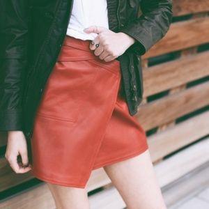 Belstaff Dresses & Skirts - Belstaff Red Leather Ryder Mini Skirt