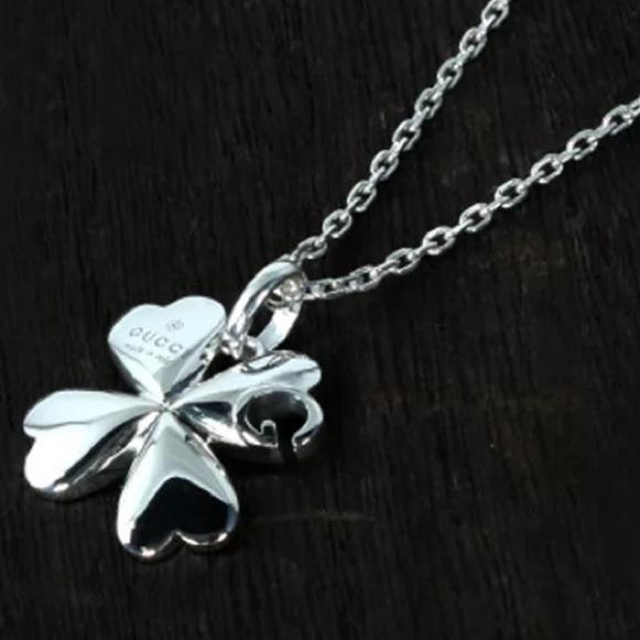 Gucci Jewelry Trademark G Clover Silver Necklace Poshmark