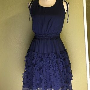 Gianni Bini navy geo cut dress  xs