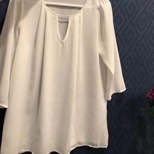Everly Tops - Everly Sheer White top