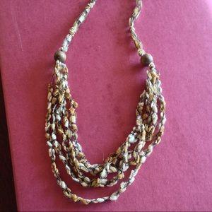 Jewelry - Italian Hand Woven Silk Necklace NWOT
