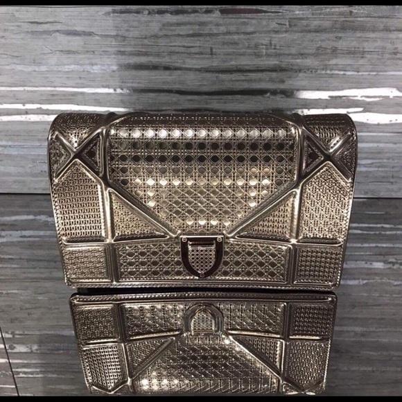 574ec70a797 Christian Dior Bags | Dior Diorama Metallic Microcannage Bag | Poshmark