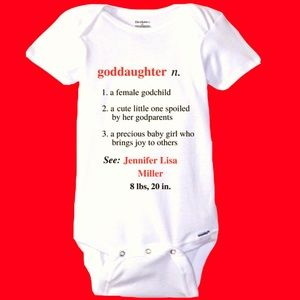 Other - Personalized Goddaughter Definition Onesie! 😍