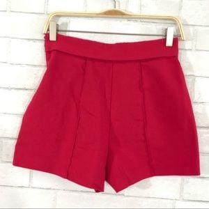 Zara size S fuchsia high waist shorts