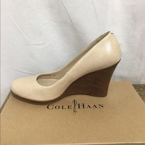 Cole Haan Shoes - Cole Haan Off White Wedge With Box