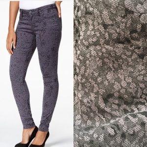 Style & Co Denim - Animal print gray jeggings