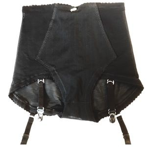 Fab Vintage Girdle Undies with Metal Garters, NOS