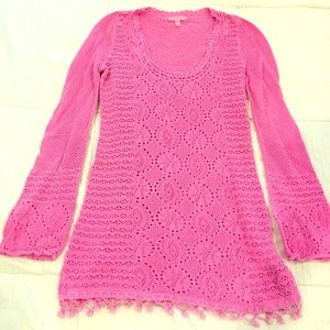 Lilly pulitzer bright pink sweater