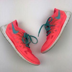[Nike] Free 5.0 Running Shoes Hyper Punch Mango 10