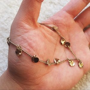 Vintage Jewelry - Vintage dainty disk thin gold anklet