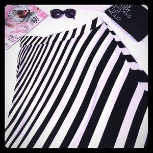 Lane Bryant Dresses & Skirts - {HP} LANE BRYANT Striped Knit Maxi Skirt