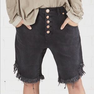 One Teaspoon Pants - One Denim Frayed Shorts