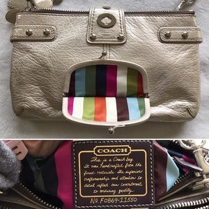 c242cb3597de Coach Bags - Coach Platinum Legacy Leather Bridgit Clutch Bag