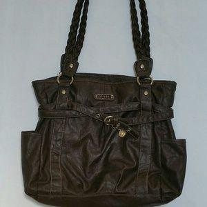 Rosetti Handbags - Distressed Brown Rosetti Shoulder Bag