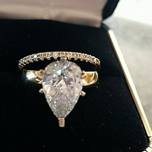 Jewelry - 14k Solid Yellow Gold Engagement Ring&Wedding Band
