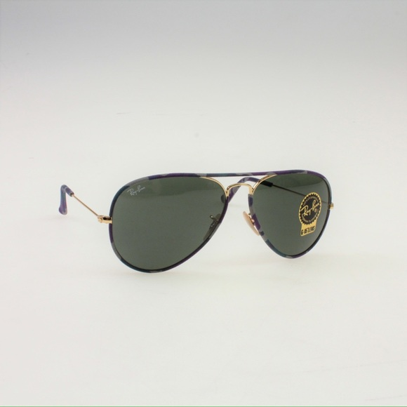 458dca36abe Ray-Ban Full-Color Aviator Sunglasses 3025 172 58