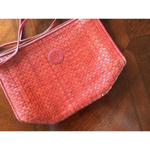 Fendi Handbags - Rare Vintage Red woven Fendi Crossbody Purse Bag 0378bf8d0cd8b