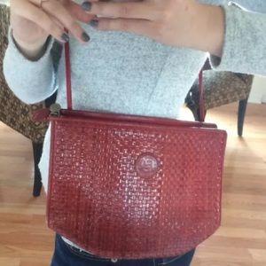 Fendi Bags - Rare Vintage Red woven Fendi Crossbody Purse Bag 514f68a7f80b0