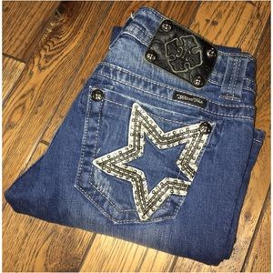 Miss Me Bootcut Bling Jeans