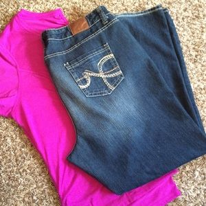 Maurices Denim - Maurice's plus size boot cut jeans 24 L like new