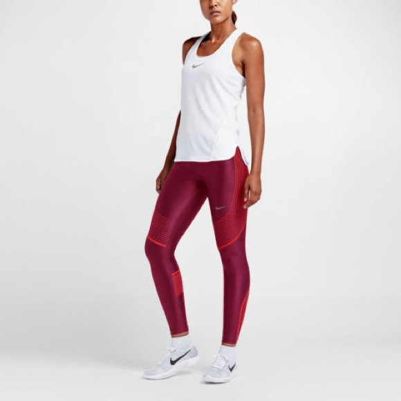 481764795e720 Nike Pants | Womens Power Speed Running Tights Noble Red | Poshmark