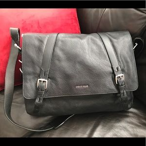 New! Cole Haan pebbles leather messenger bag