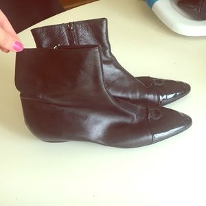 Like new Ferragamo Leather and Patent Boots