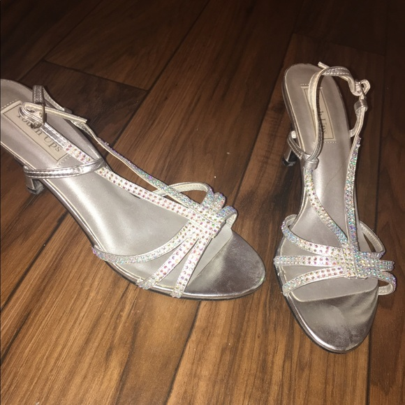 e58692b1f1b5 David s Bridal Shoes - Touch Ups Silver Kitten Heels Size 10
