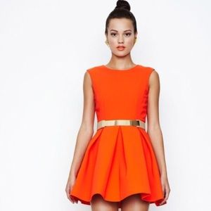 AQ/AQ Dresses & Skirts - Orange Aqua by Aqua Floyd Structured Skater Dress