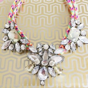 Neon Bling Statement Necklace