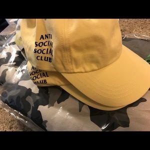 Anti Social Social Club Accessories - Brand new anti social social club weird cap Yellow