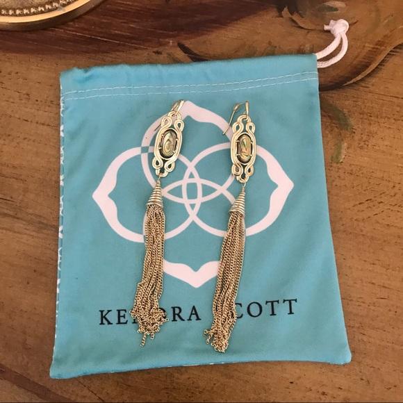 36289c83a Kendra Scott Jewelry | Erin Tassel Abalone Earrings | Poshmark