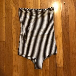 American Apparel Tops - American Apparel black and white body suit