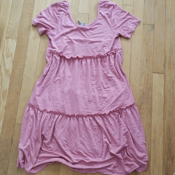 ASOS Asos maternity tiered pink dress baby shower from