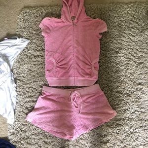 Juicy couture terry cloth shorts set!!!!