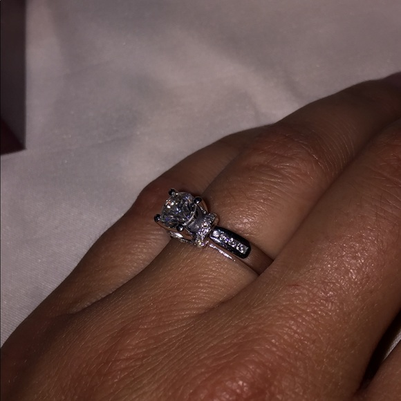 55cd1812de7aa 14k white gold 1 1/5 carat total diamond ring