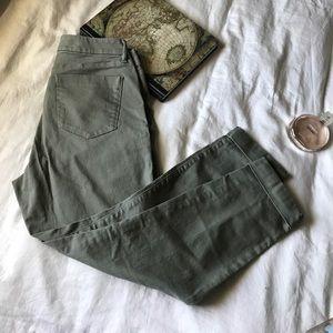 Ann Taylor Loft Curvy Skinny Ankle Jeans sz 30