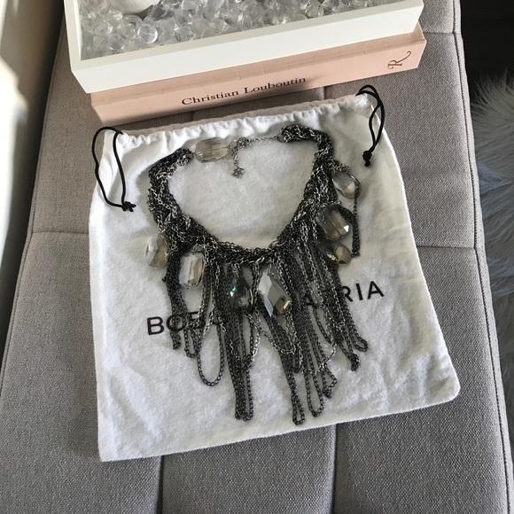 47bd27d85fa BCBGMaxAzria Jewelry - BCBG Max Azria Braided Chain   Stone Necklace