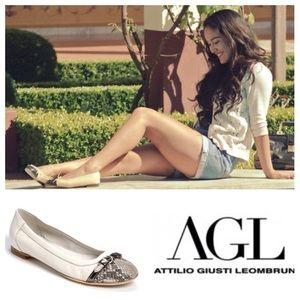 Agl Shoes - AUTHENTIC!  AGL Cap Toe leather ballerina flats