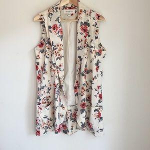 Daniel Rainn Sleeveless Floral Vest, Size L