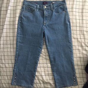 NYDJ Pants - NYDJ Women's Size 8P Ariel Crop Denim Pants