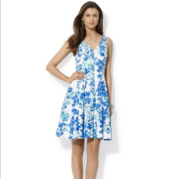 194bace500f5 Lauren Ralph Lauren Dresses | Blue White Floral Dress | Poshmark