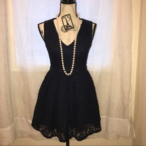 Dainty Hooligan Dresses & Skirts - Dainty Hooligan Navy Blue Lace Dress. Size S.