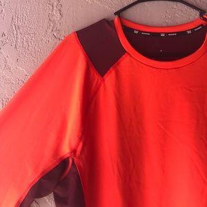 tek gear Tops - Burgundy mesh on orange top gym shirt