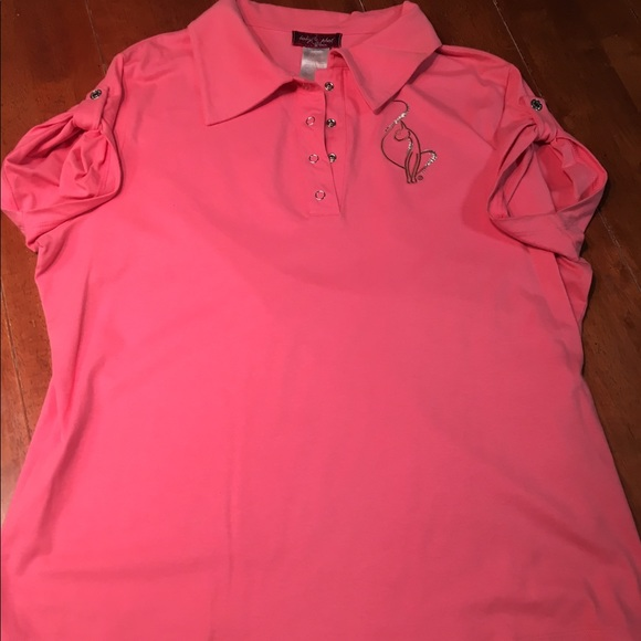 71 off baby phat tops baby phat pink polo style t shirt for Baby pink polo shirt