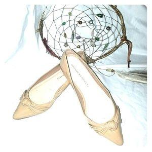 Buff patent Loeffler Randall ballet flat 6.5 -7