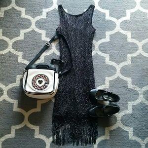 Harlow Dresses & Skirts - Black Shimmery Flapper Dress