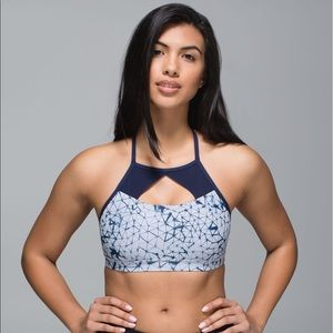 lululemon athletica Tops - 🍋Lululemon print sports bra with mesh cutouts