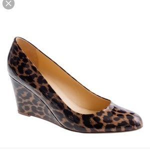 J. Crew Shoes - J. Crew patent leopard Martina wedges