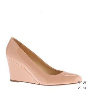 J. Crew Shoes - J. Crew patent Martina wedges in Peach